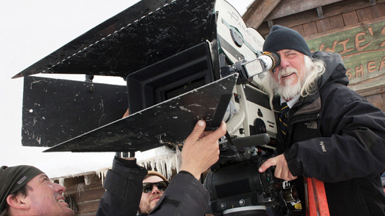 Cinematographer ROBERT RICHARDSON on the set of THE HATEFUL EIGHT Photo: Andrew Cooper, SMPSP © 2015 The Weinstein Company. All Rights Reserved.